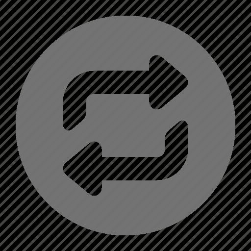 arrow, list, media, play, repeat, replay, return icon