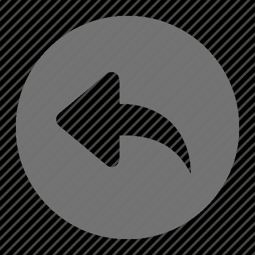 arrow, back, move, return, revert, undo icon