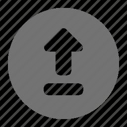 arrow, backup, data, export, transfer, up, upload icon