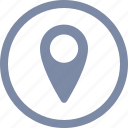 gps, location, map, pin, place, pointer, sign icon