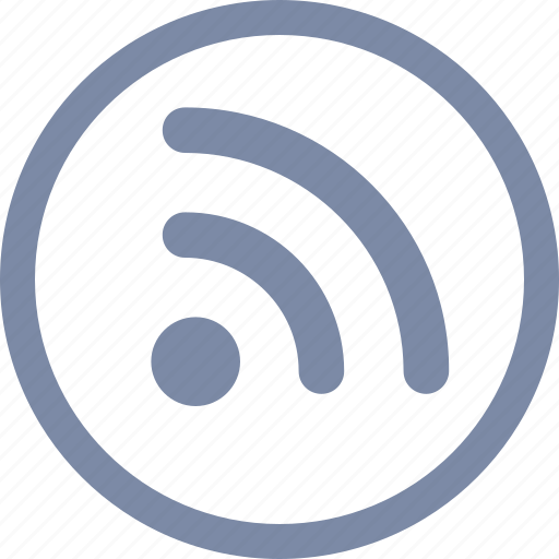 channel, circle, communication, feed, news, rss, technology icon