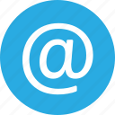 address, at, contact, email, mail, sign icon