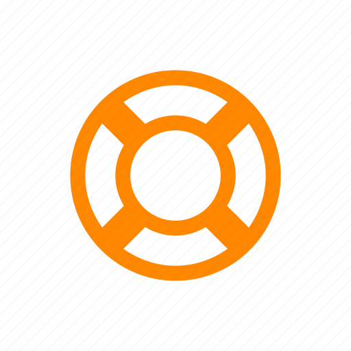 help, lifebuoy, lifesaver, rescue, support icon