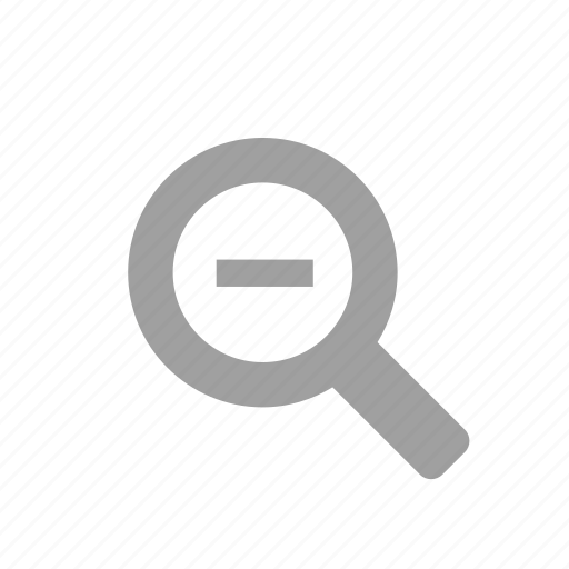 magnifying glass, minus, zoom, zoom out icon