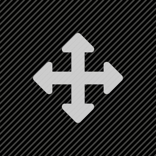 arrow, cursor, direction, drag, grey, move icon