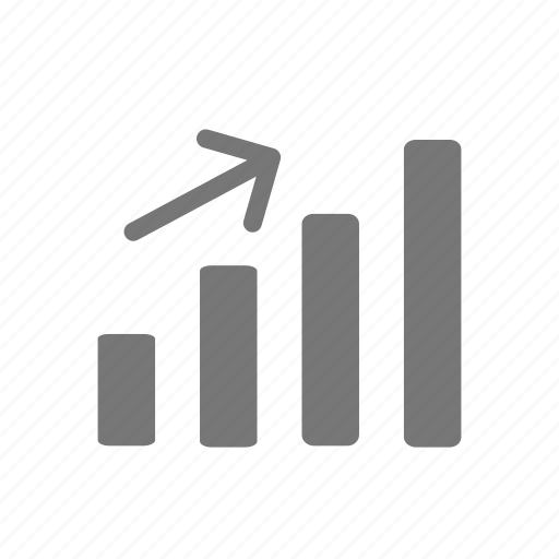 bar graph, business profit, growth, increase, profit, statistics icon