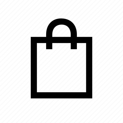 bag, commerce, outline, shopping icon