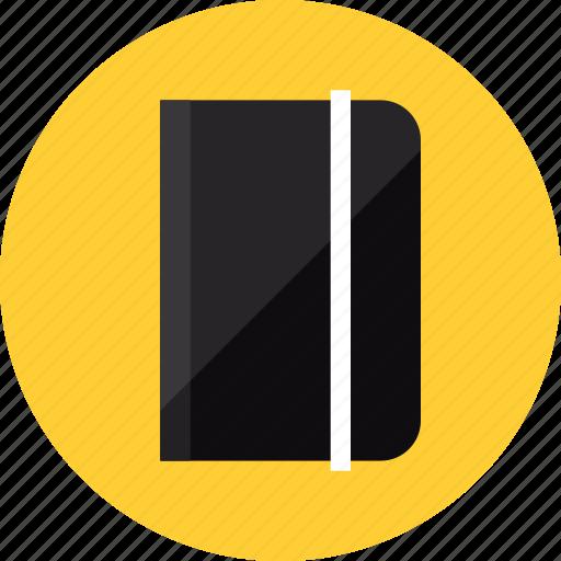 book, diary, journal, moleskine, notebook, notepad, organizer icon