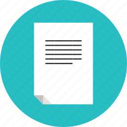 document, file, information, letter, list, mail, page, paper, sheet, text icon
