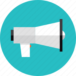 announcement, loudspeaker, marketing, media, megaphone, promotion, speaker icon