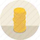 banking, cash, coins, earnings, finance, financial, gold, investment, money icon