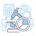 analysis, marketing research, monitoring, study icon