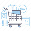 goods, shop, shopping cart, store