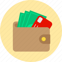 cash, credit card, money, wallet icon