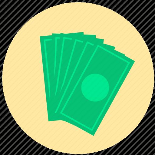 bills, cash, dollar, money icon