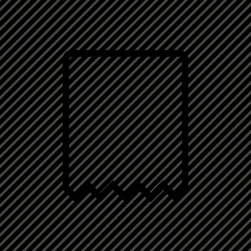 blank commerce receipt ticket voucher icon