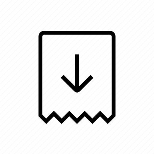 Commerce, down, out, receipt, take icon - Download on Iconfinder
