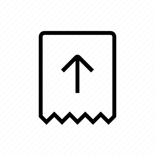 commerce, give, in, receipt, up icon