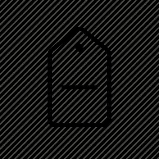 commerce, delete, minus, remove, tag icon