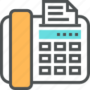 business, communication, device, fax, office, phone, receive icon