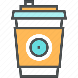 beverage, coffee, cup, disposal, drink, fastfood icon