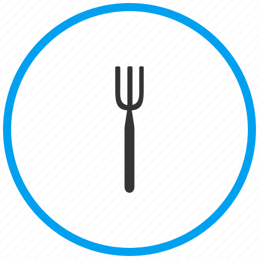 cutlery, dish, food, fork, plate, restaurant icon
