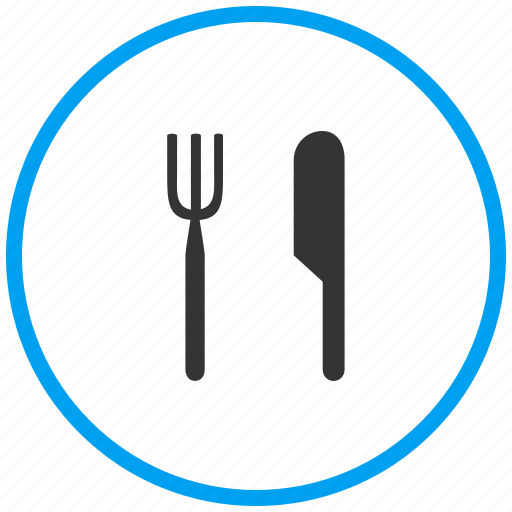 cutlery, dish, food, hotel, knife and fork, meal, restaurant icon