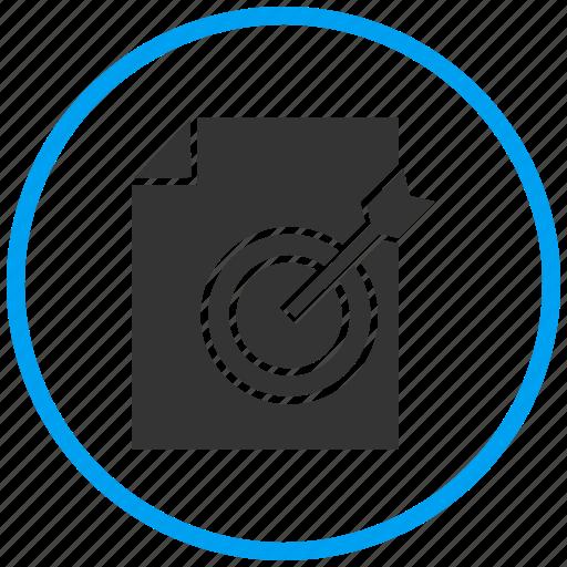 aim, center, content, document, goal, target icon