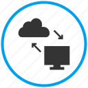 cloud services, cloud storage, data transfer, online storage, shared services, upload icon