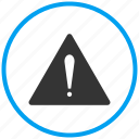 alert, danger, error, notification, problem, warning icon