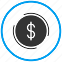 amount, bank, coin, currency, dollar, finance, money icon