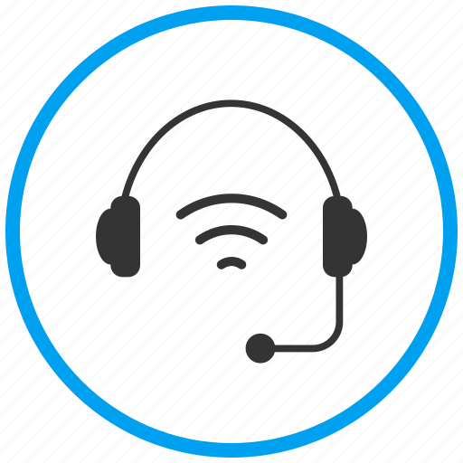 earphones, handsfree, headphone, headset, help support, media, wireless headset icon