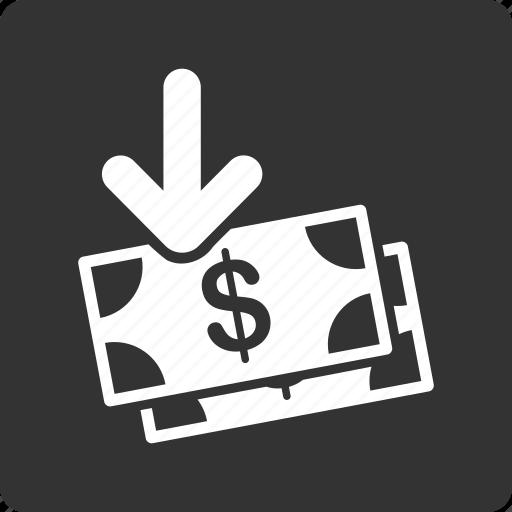 banknotes, business, cash, gain, income, money, profit icon