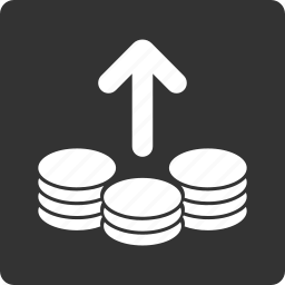 coins, finance, pay, payment, payments, payout, send money icon