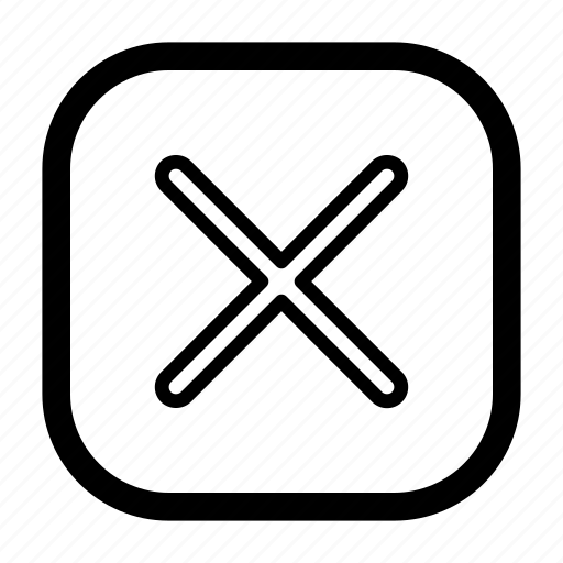 cancel, close, delete, drop, erase, remove, stop icon