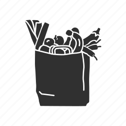 bag, grocery, paper bag, shopping icon