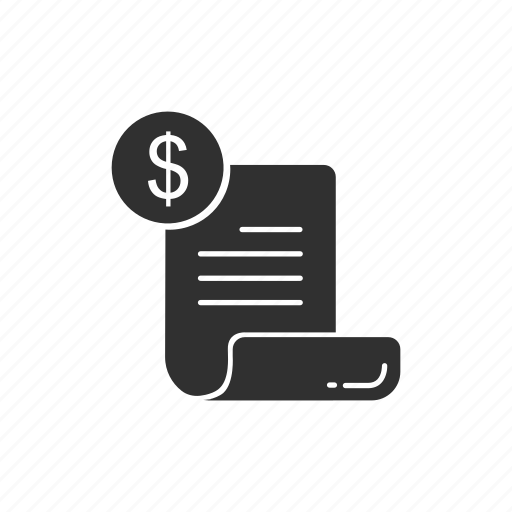 bill, expenses, payment, receipt icon