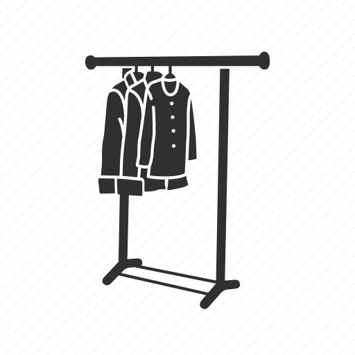 clothes, clothes display, clothes stand, hanger icon