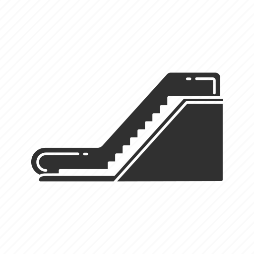 escalator, moving stairs, staircase, stairs icon