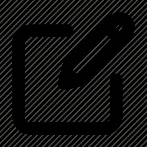 contract, document, edit, pen, pencil icon