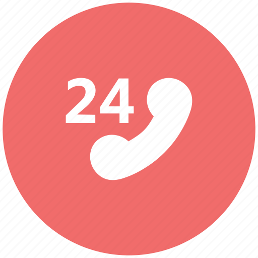 all time, contact, customer service, customer support, phone, receiver, twenty four icon