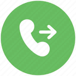 contact, outgoing, outgoing call, phone, receiver, telephone receiver icon