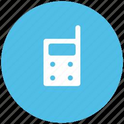 communication, cordless, handheld transceiver, handie talkie, military radio, radio, walkie talkie icon