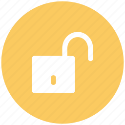 padlock, protection, security sign, unlock, unlock sign icon