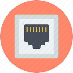 internet outlet, internet plug, internet socket, lan port, telephone plug icon