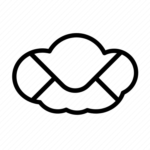 cloud, communication, email, interface, internet, mail, message, network icon