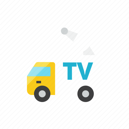 broadcasting, truck icon