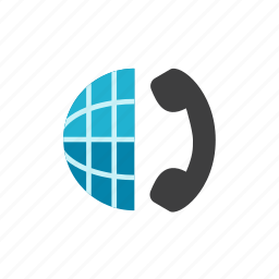 globe, phone icon