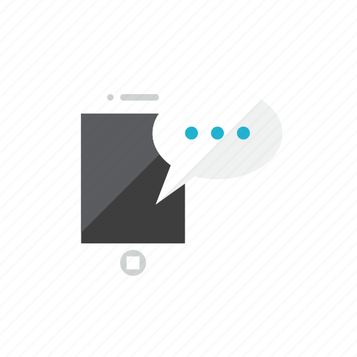 message, smartphone icon