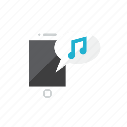 music, smartphone icon